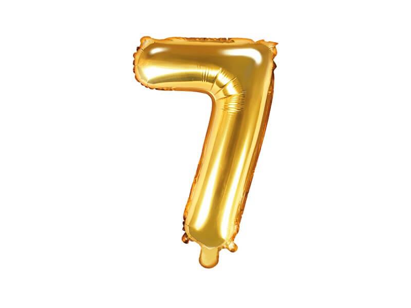 Ballon anniversaire chiffre 7 Or 35cm