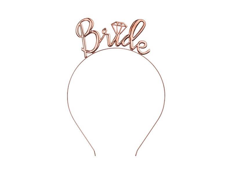 Serre tête  BRIDE TO BE rose gold