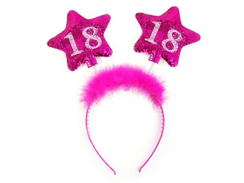 Serre tête 18 ans étoile rose