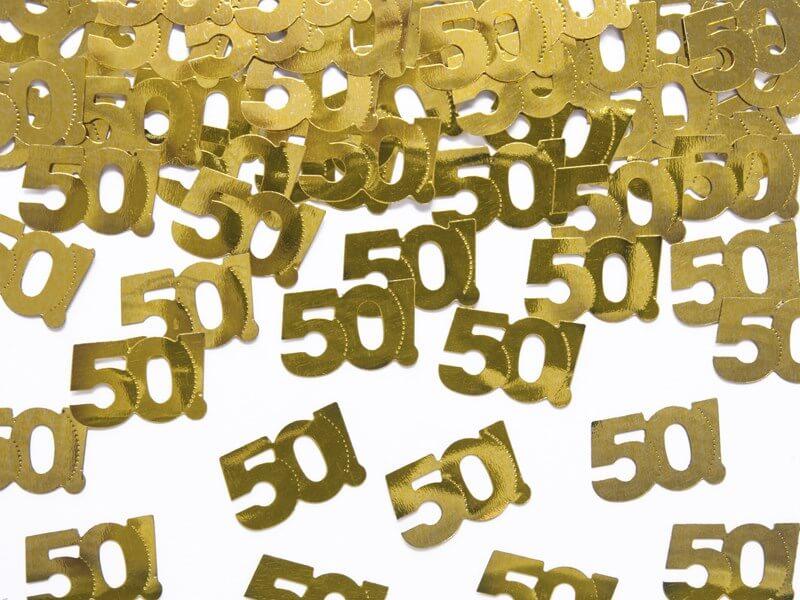 Confettis de table 50 ans (15gr)