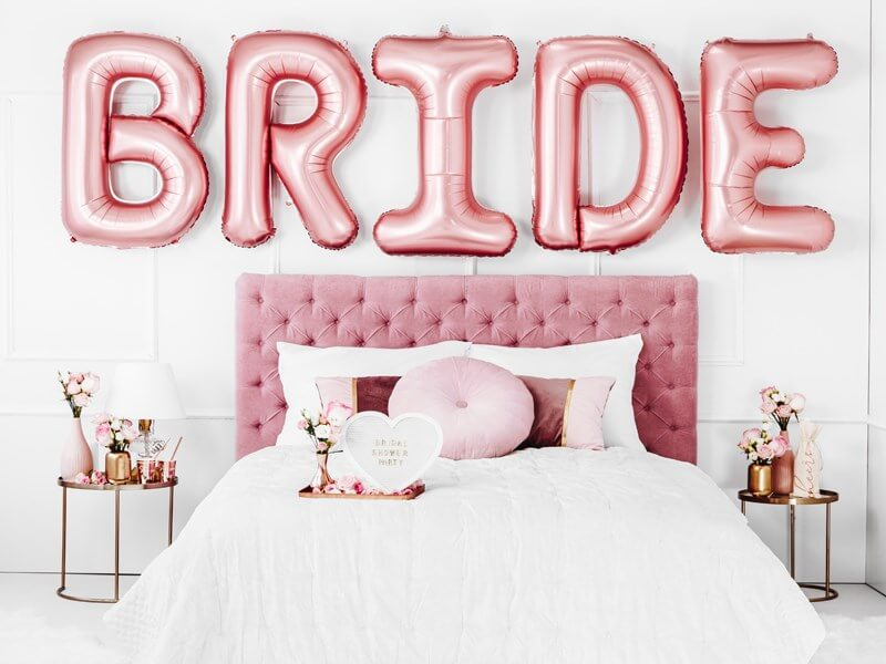 Sac en coton avec inscription TEAM BRIDE rose gold