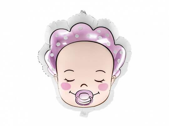 Ballon Baby Girl Rose 40x45cm