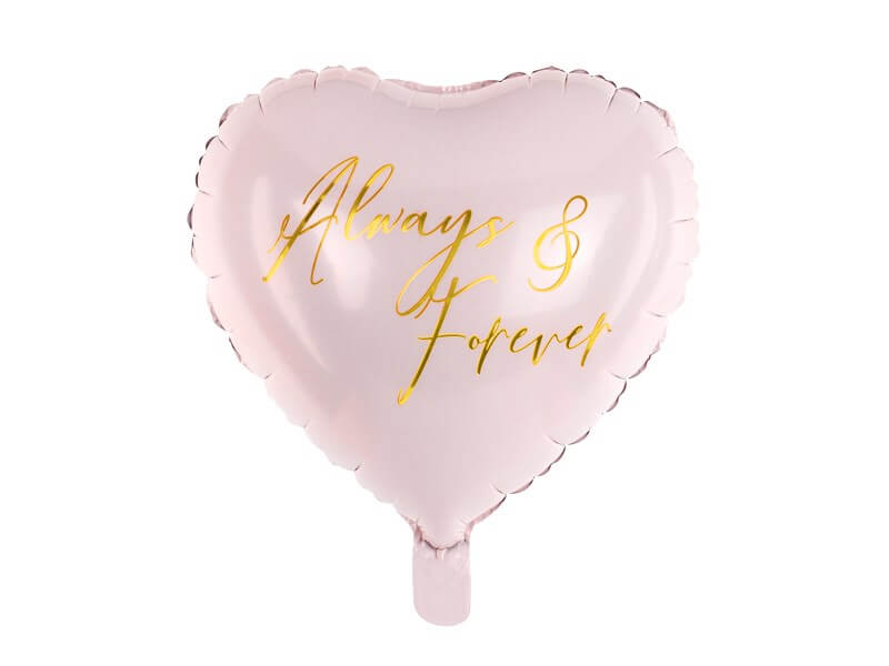 "Ballon Coeur rose ""Always & Forever"" 45cm"