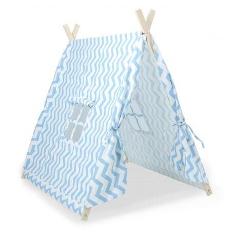 Tente Canadienne Pliable Bleu pour enfant