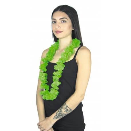 Collier Hawaîen à fleurs vert