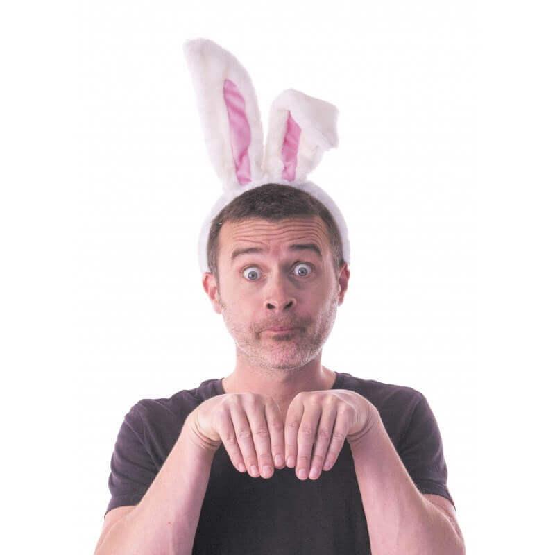 Serre tête oreille de lapin en peluche