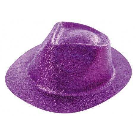 Chapeau BORSALINO paillette violet