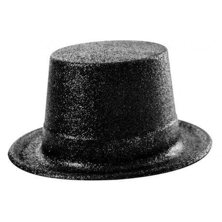 Chapeau Haut de forme paillette noir