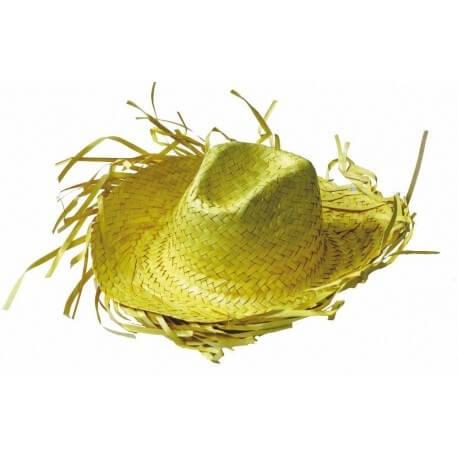 Chapeau Cowboy caraïbe jaune