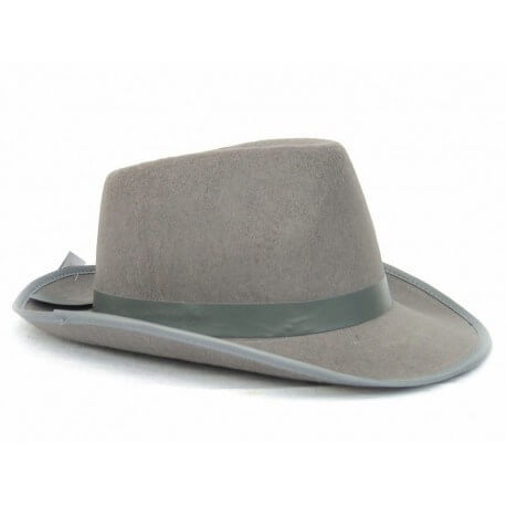 Chapeau BORSALINO en tissu gris