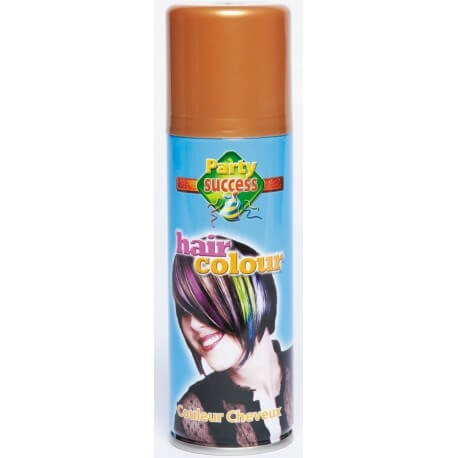 Bombe spray pour cheveux couleur or