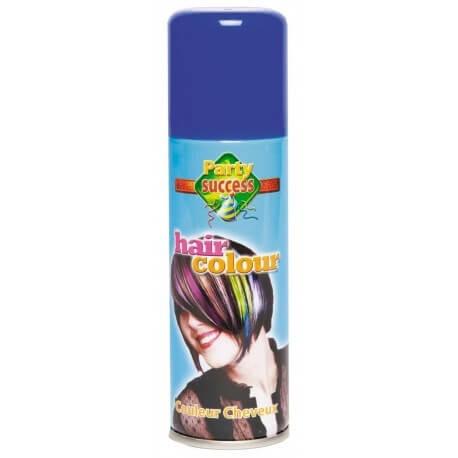 Bombe spray pour cheveux couleur bleu