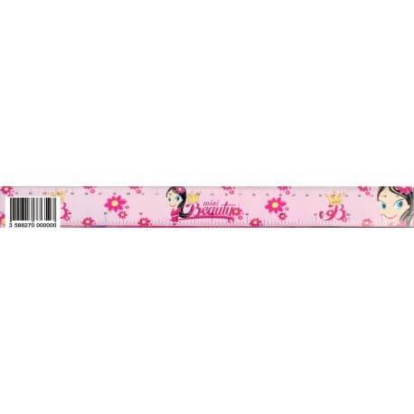 Règle mini beauty rose 30cm
