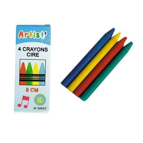 Lot de 4 crayons de cire