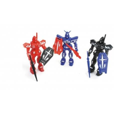 Robot avec épée + bouclier 11cm
