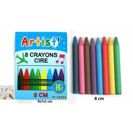 Boîte de 8 crayons en cire