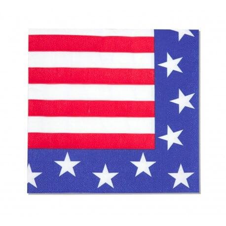 Lot de 12 serviettes USA