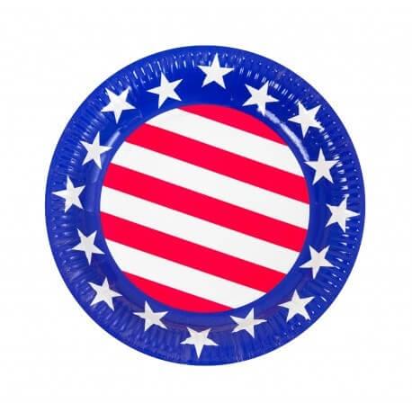 Assiette USA ø22cm (Lot de 6)