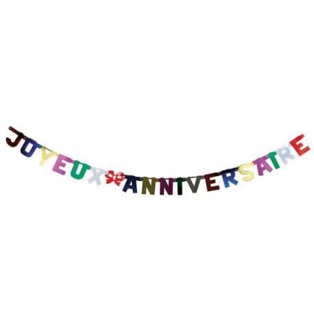 Guirlande Joyeux Anniversaire Métal