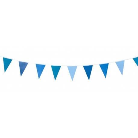 Guirlande 10 fanions bleus