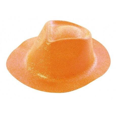 Chapeau BORSALINO paillette orange