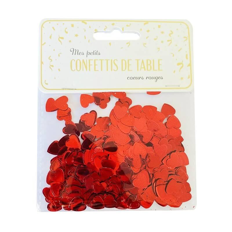 Confettis de table coeur rouge (15gr)