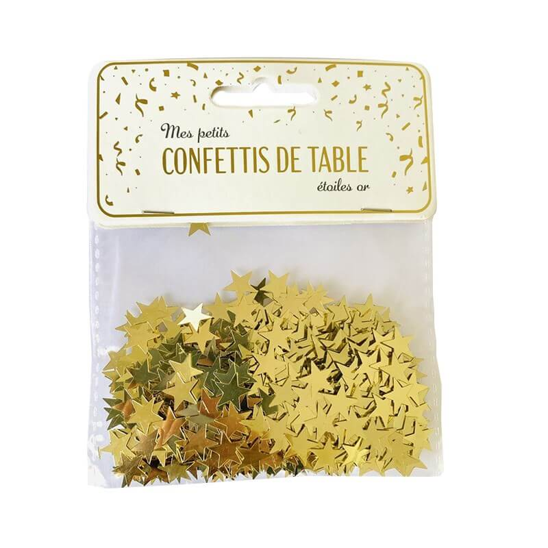 Confettis de table étoiles or (15gr)