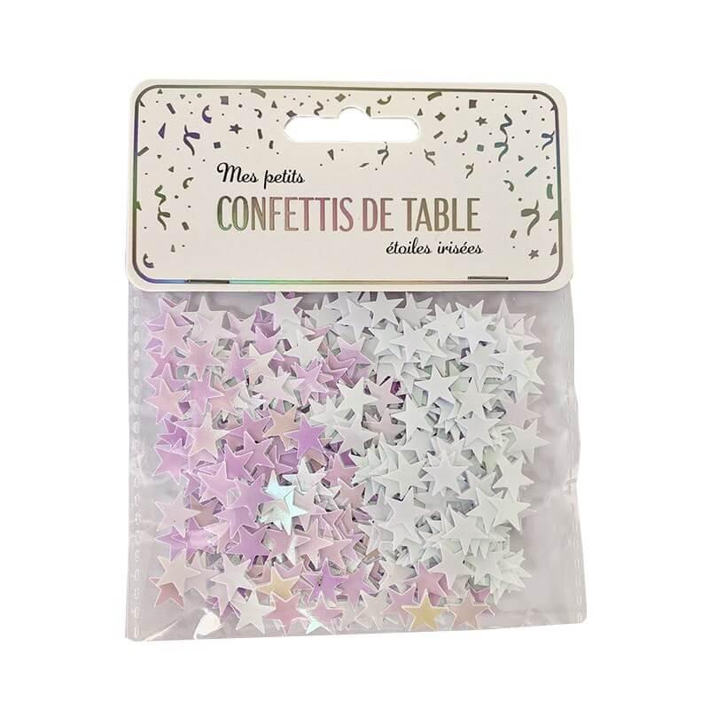 Confettis de table étoiles irisées (15gr)