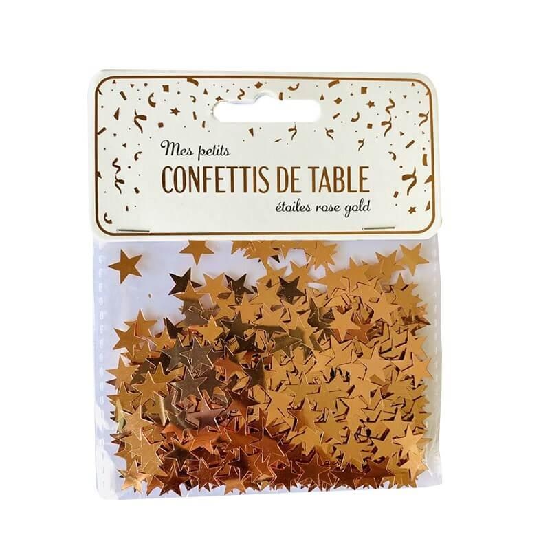 Confettis de table étoiles rose gold (15gr)