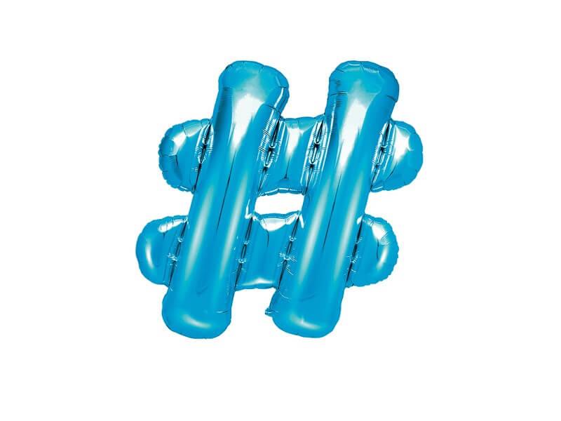 Ballon # Bleu 35cm