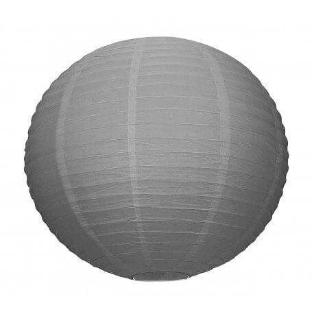 Lanterne Japonaise grise 35cm