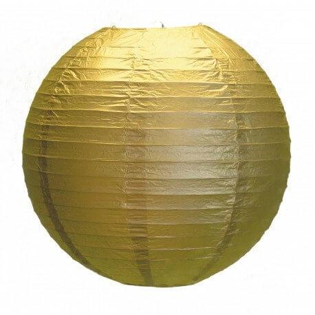 Lanterne Japonaise Or 35cm