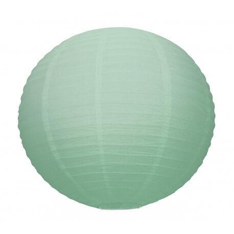 Lanterne Japonaise vert céladon 35cm