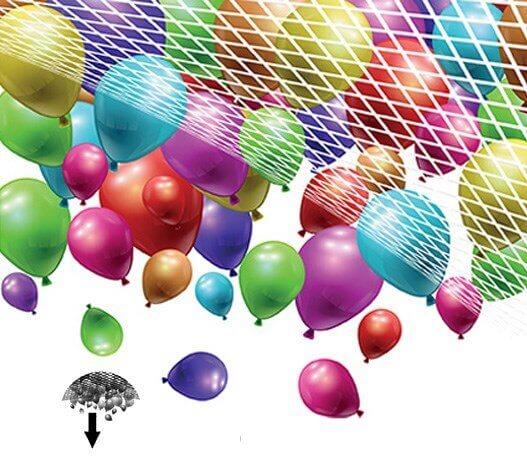 Filet pour lâcher de ballons (500 Ballons)