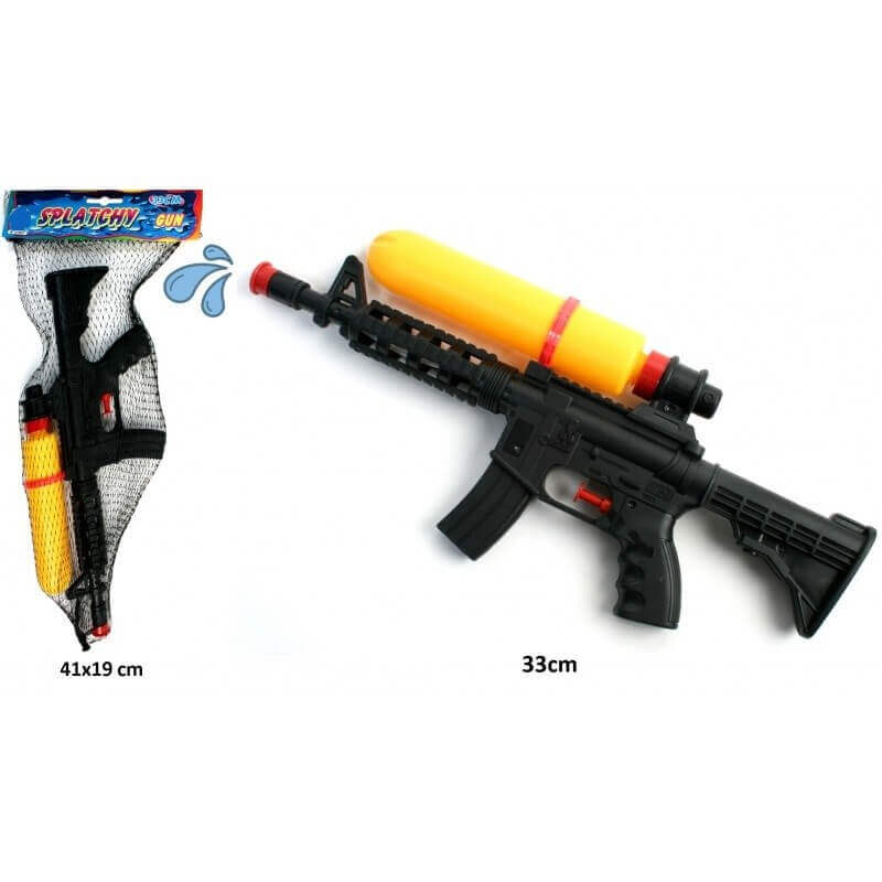 Pistolet à eau avec réservoir jaune