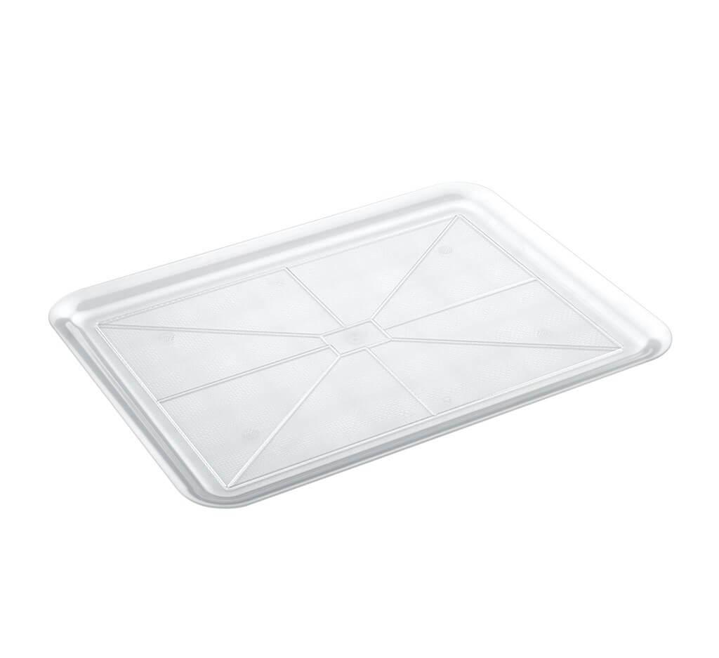 Plateau en plastique transparent rectangulaire 50x37cm