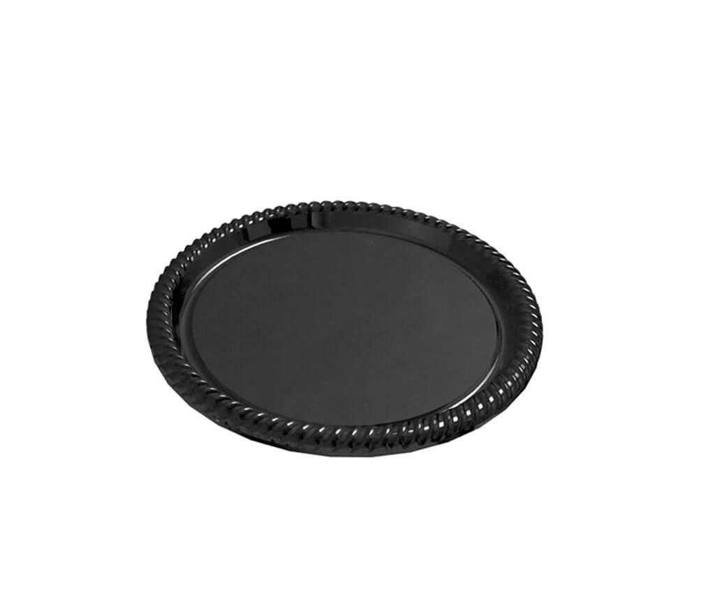 Lot de 5 plateaux en plastique rond noir ø34cm