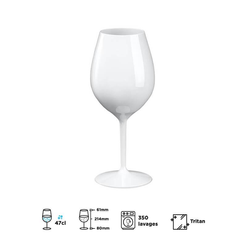Verre à vin REDONE blanc 51cl (Tritan)