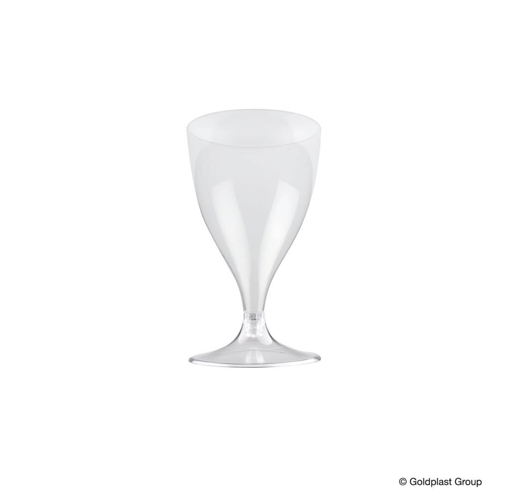 Verre à vin 20cl en plastique transparent - Lot de 20