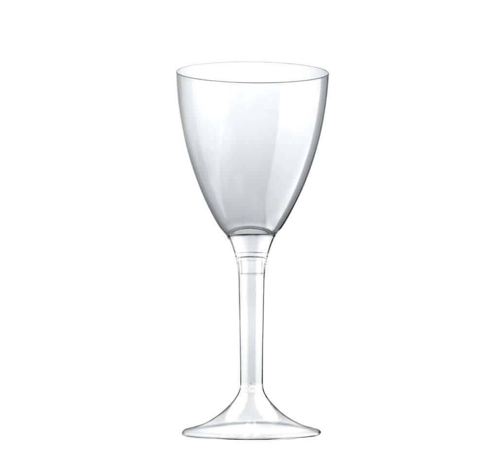 Verre à vin 18cl en plastique transparent - Lot de 10