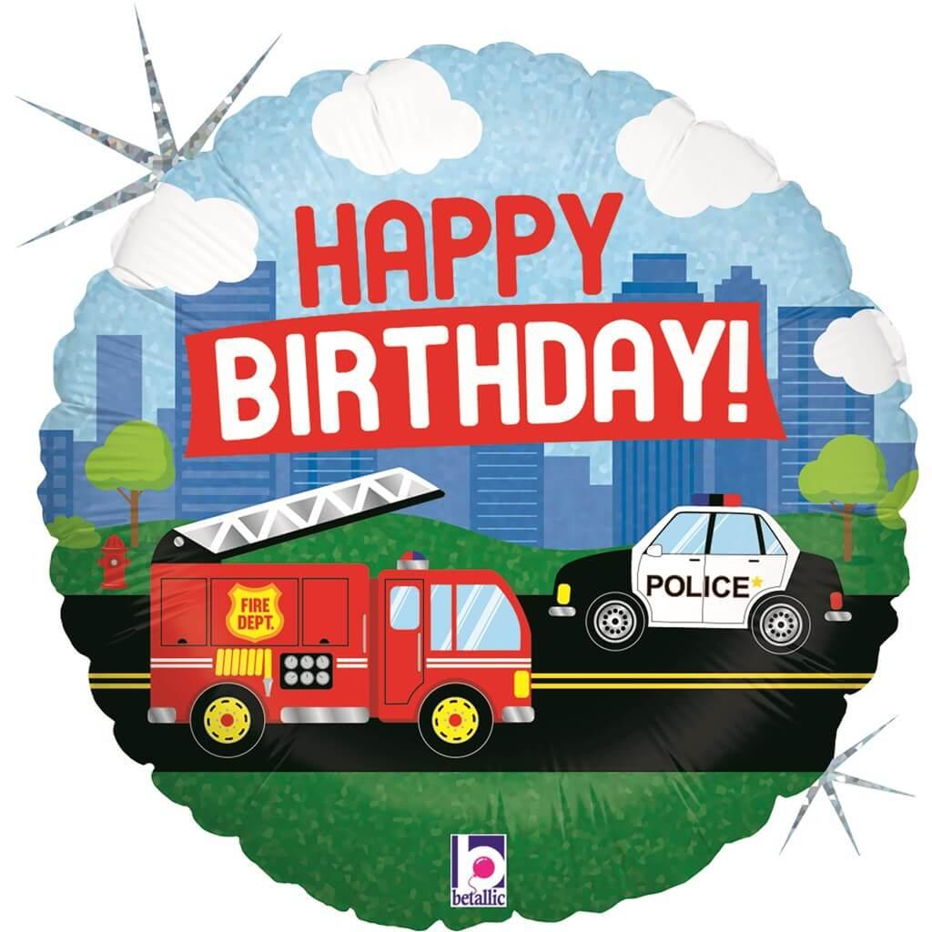 "Ballon ""Happy Birthday"" Emergency ø45cm"