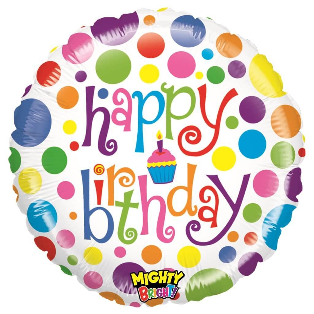 Ballon Multicolore Happy Birthday ø53cm