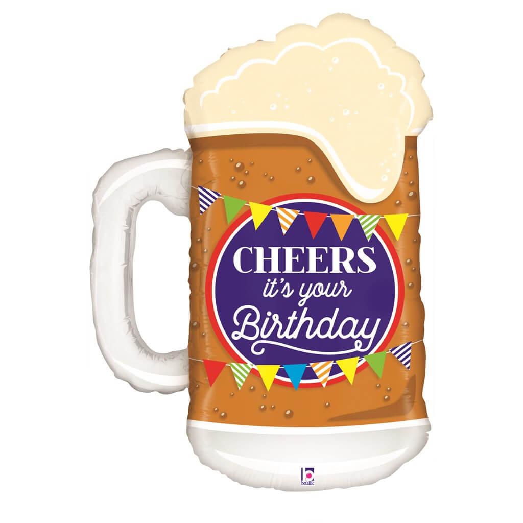 Ballon Mug Bière Birthday 86cm