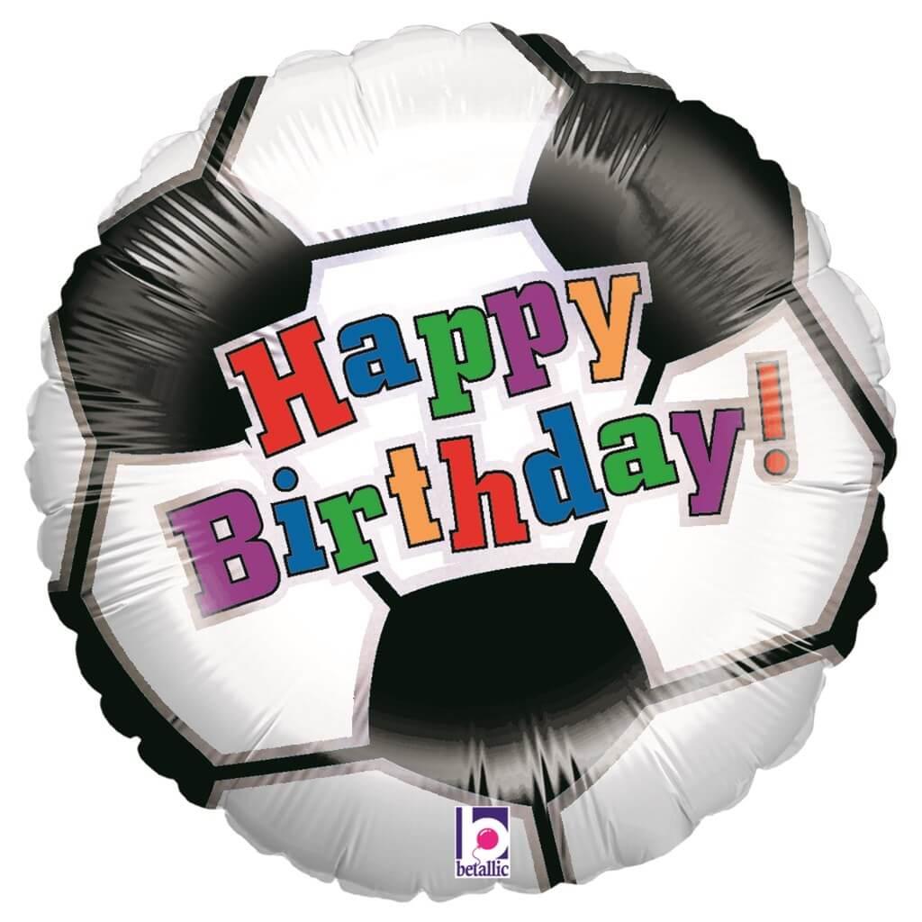 Ballon Foot Happy Birthday ø45cm