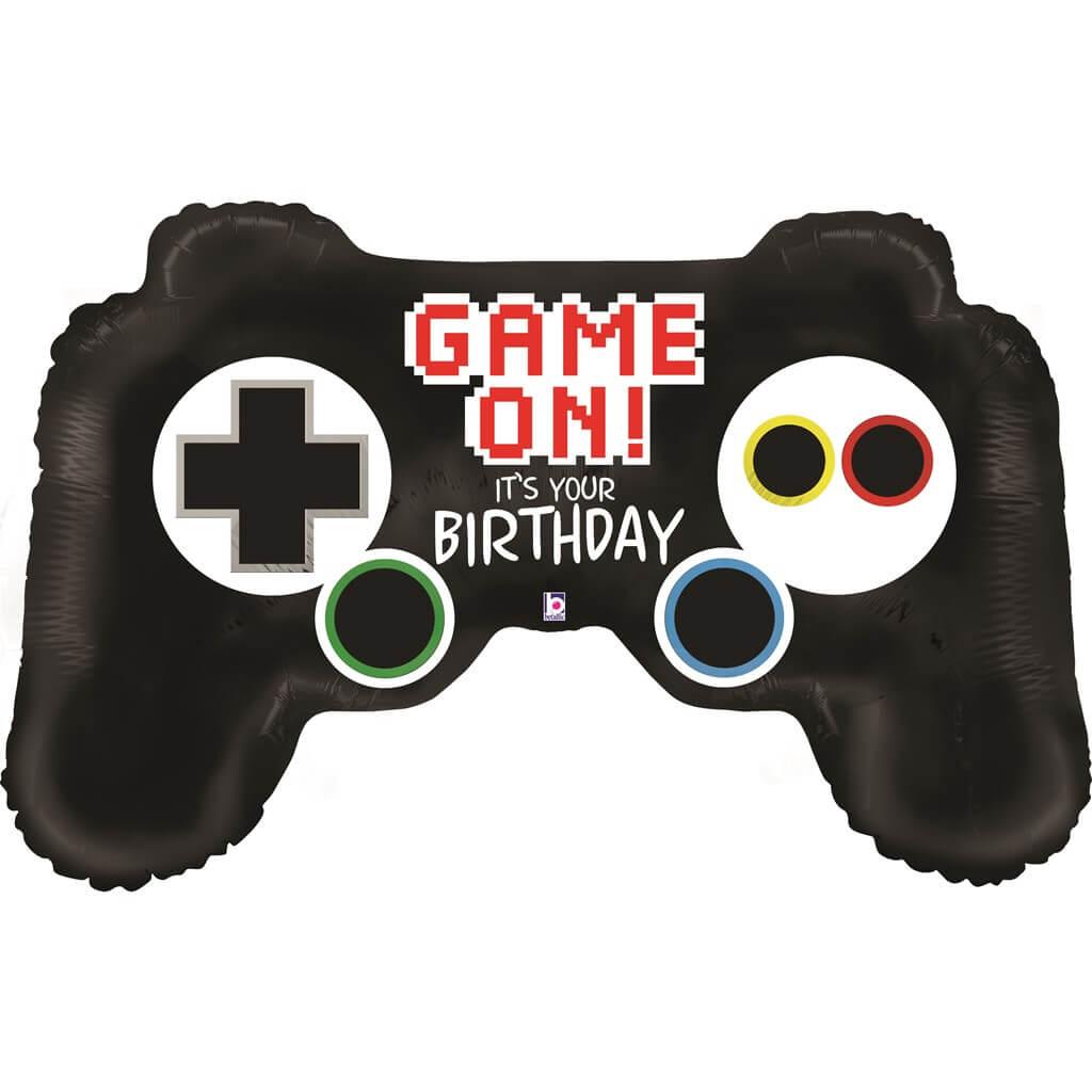 Ballon Hélium Birthday Manette Playstation 91cm