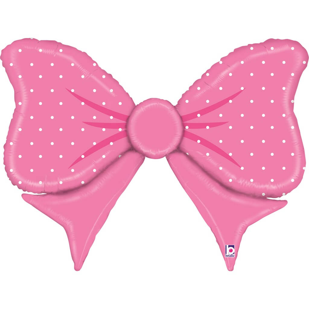 Ballon noeud Papillon rose 109cm