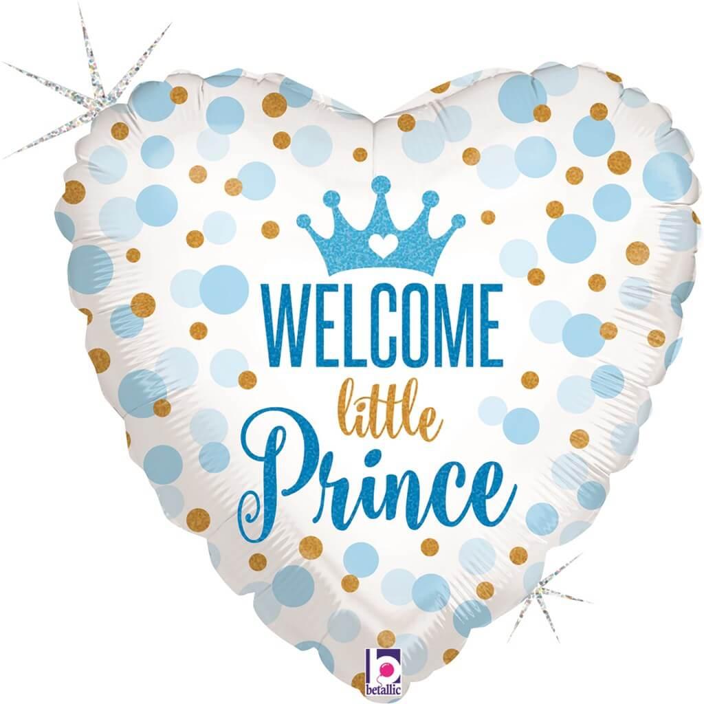 Ballon Coeur Welcome Little PRINCE 45cm