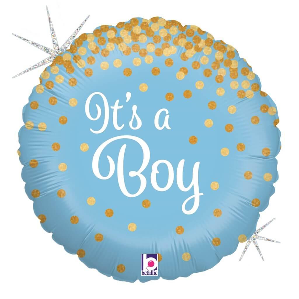 """Ballon Bleu """"It's a Boy"""" Brillant ø45cm"""