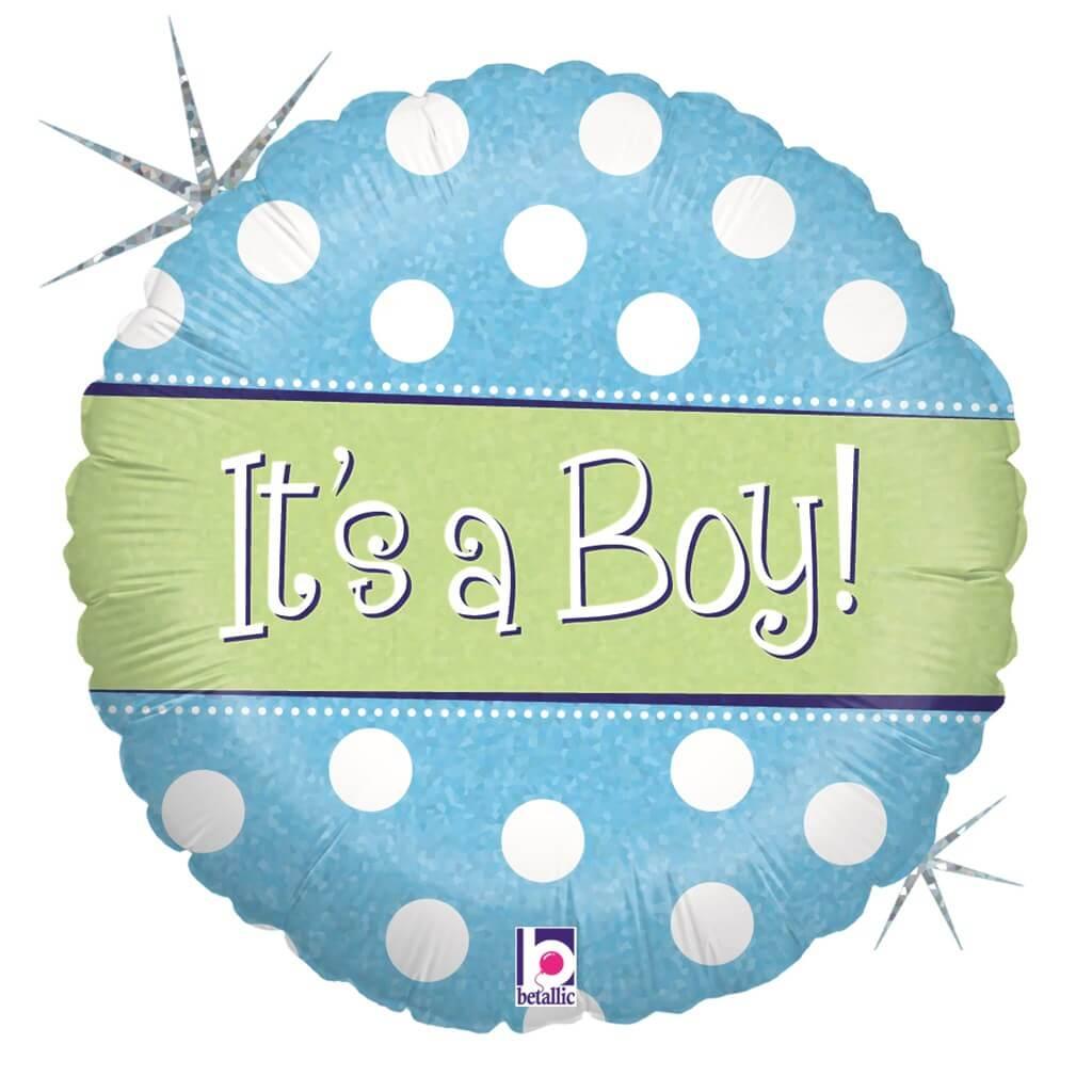 Ballon à pois It's a Boy ø45cm