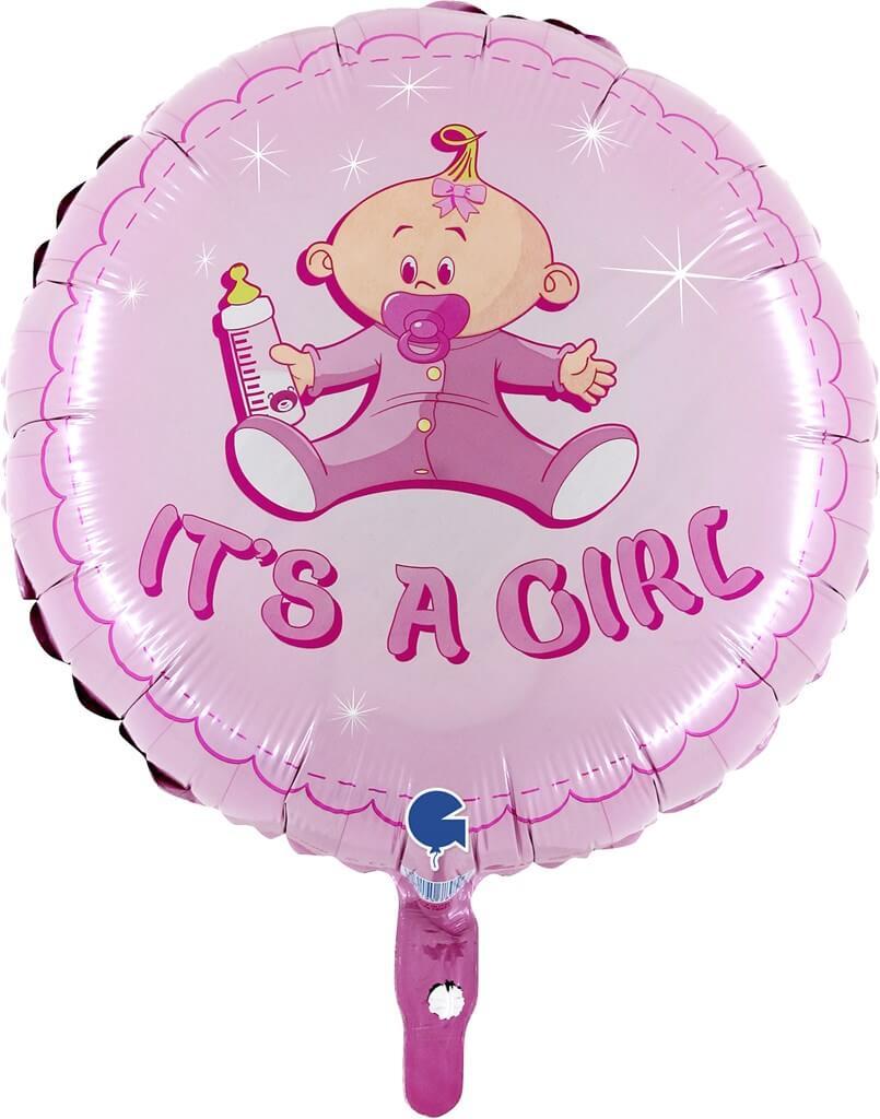 """Ballon Baby """"It's a Girl"""" ø45cm"""